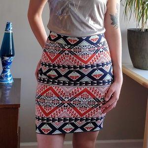BCBG MaxAzria Tribal Mini Skirt